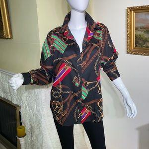 Ralph Lauren Equestrian Print Button Down Shirt